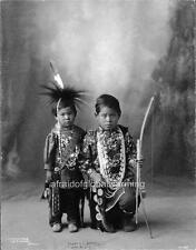 Photo. 1890s Small Warriors - Archer, Feather - Native American Fox Sauk Indians