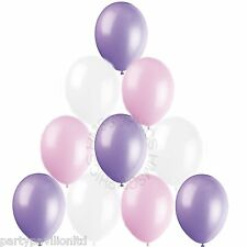 30 Pink Lavender White Helium Balloons Baby Shower,Christening Party Decorations