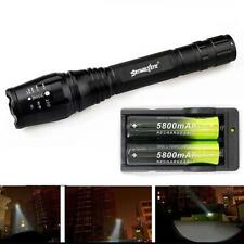 Zoomable 4000 Lumen 5 Modes CREE XML T6 LED Torch Lamp Light 18650&Charger+Strap