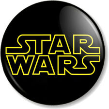 "STAR WARS Title Logo 25mm 1"" Pin Button Badge Star Wars Movie Film George Lucas"