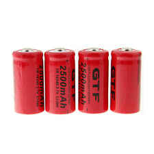 4pcs 3.7V 2500mAh 16340 LED Flashlight Li-ion Rechargeable Battery