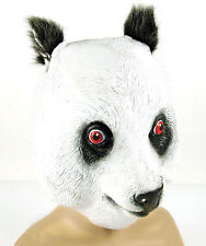 PANDA MASK MENS LADIES ADULT KUNG FU BLACK WHITE BEAR LATEX OVERHEAD COSTUME NEW