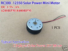 DC 1.5V-6V 3V 6V Mini 300 Solar Motor Small Micro Round Motor for Fan CD Player