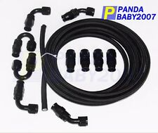 AN10 -10AN Teflon Braided OIL FUEL Line E85 PTFE Hose+fitting Hose End 32.8FT