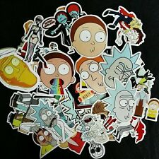 Lot of 35 Rick And Morty Rare OOP Decal Stickers - Adult Swim - GREAT VALUE!