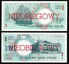 Poland 1 ZLOTY CANCELLED Serie A 1990 P 164 UNC