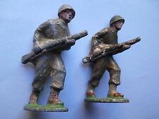 """Jouet ancien """"lot de 2 soldats au fusil"""" quiralu"""
