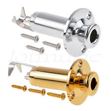 Acoustic Guitar Bass Output Jack Endpin Plug Socket Stereo Gold and Chrome