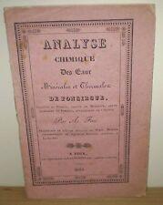 PYRÉNÉES/ FAU : EAUX MINÉRALES & THERMALES DE FONCIRGUE (PEYRAT)/ EO, FOIX, 1835