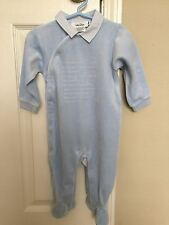 Auth BABY DIOR Blue Boy Bodysuit Pyjamas 9 MONTHS French Style