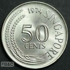 1974 Singapore 50 Cents Coin KM#5