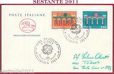 ITALIA FDC CAVALLINO EUROPA UNITA CEPT 1984 ANNULLO ROMA FILATELICO Y580