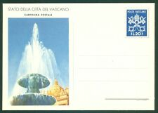 Vatican City 1950 Mint  20L Postcard, All Line Same, Fountain