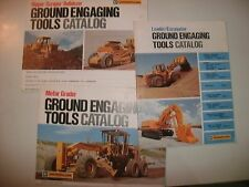 LOT of 3 VINTAGE CAT CATERPILLAR GROUND ENGAGING TOOLS CATALOGS DOZER GRADER