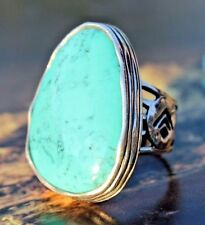 "Silpada~""Tumbled Turquoise"" Sterling Silver & Turquois Statement Ring Sz.7~R2017"