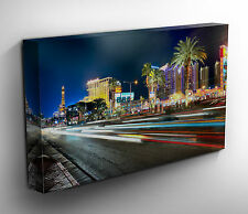 Las Vegas Nevada Panoramic Art Canvas Print Picture 50 x 20 inch Ready to Hang