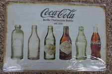 Coca Cola History Metal Sign Painted Poster Book Wall Decor Kitchen Pub Shop Art