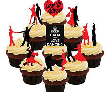 Love To Dance 36 COMMESTIBILE CUP cake topper, fata Chignon DECORAZIONI Danzanti Ballerini