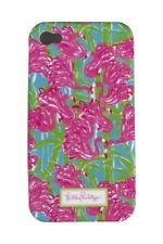 LILLY PULITZER IPhone 4 / 4S FAN DANCE  Mobile Cell Phone Cover  PINK FLAMINGO