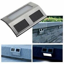 LÁMPARA SOLAR PANEL 2-LED LUZ ILUMINACIÓN PR ESCALERA JARDÍN PATIO SENDERO PARED