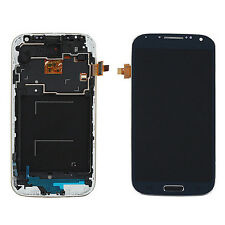 LCD Display Touch Screen Digitizer + Frame Fr Samsung Galaxy S4 i9505 Blue AI1G