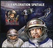 CENTRAL AFRICA  2016 SOVIET SPACE EXPLORATION GAGARIN, LEONOV, BELYAYEV S/S NH