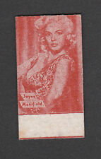 Jayne Mansfield 1950s Rare Movie Film Star Weigh Fortune Scale Card from Spain