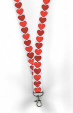 1 x QUEEN OF HEARTS St Valentine's Day ID Card Neck Strap LANYARD! FREE UK P&P