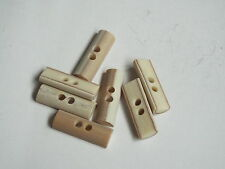 5pc 40mm Mock Bone / Ivory  toggle button ideal for Duffle Trench coat 2345