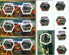 CLASSIC AUTOMOBILES SET 6 hexagon stamps + 4 s/s Tchad #tchad2014-167s IMPERF