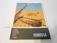 VINTAGE MUSICAL INSTRUMENT CATALOG #10151 - 1960s YAMAHA SAXAPHONE TRUMPET FLUTE