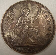 1967 GREAT BRITAIN ONE PENNY COIN LQQK NICE