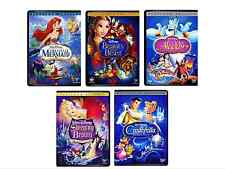 Lot 5 Disney DVDs: Little Mermaid, Beauty and the Beast, Aladdin, +++