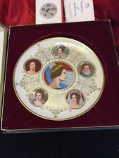 Boxed Royal Commemorative Silver Jubilee Six Queens of England Ltd.Edition Plate