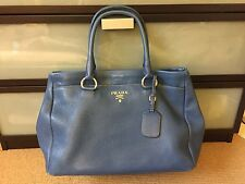 Prada Vitello Daino Blue/Turquoise Bag