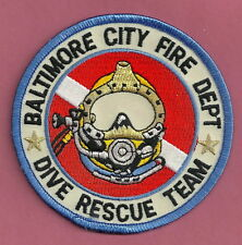 BALTIMORE CITY FIRE DEPARTMENT DIVE RESCUE TEAM PATCH