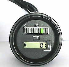 Adjustable Battery Gauge indicator meter 12/24 volt for Curtis 803 type generic