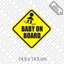 Baby on Board skateboard sticker joke sign car bumper die cut