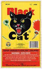 ORIGINAL FIRECRACKER FIREWORKS LABEL BLACK CAT CLASSIC BRICK MACAU MODERN 5/400