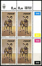 South West Africa 1980-9 SG#350a, 2c Wildlife 1986 Printing MNH Block #D25318