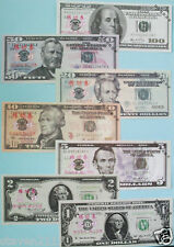 USA $DOLLAR BILLS TWO FULL SET'S OF ALL 7 BILLS-1$-2$-$5-$10-$20-$50-$100-TOT 14