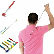 Soft Grip Metal Back Scratcher Telescopic Extendable Handy Pocket Itching Aid