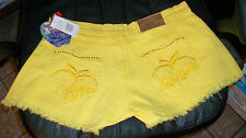 Womens/Juniors Shorts sz 7/8 APPLE BOTTOMS Aspen Gold w/Embroidery & Studs NWT