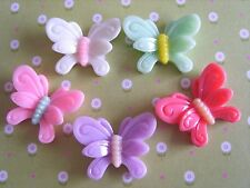5 x Fancy Butterfly Resin Flatback Cabochon Decoden,Crafts,Embellishments
