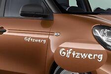 2x la minipistola mercedes smart auto Pegatina Sticker fuente Alemania