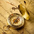Outdoor Pocket Brass Watch Style Camping Hiking Navigation Compass Ring Keychain