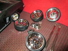 "1 SET of 1/18 wheel for custom dub 24"" wheels and tires for diorama customize #3"