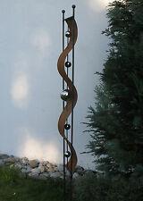 Skulptur mit 5 Edelstahlkugeln - Stele - Metall - Rost Deko - Hingugger! 160 cm