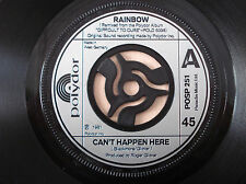 "Rainbow Can't Happen Here (Remixed) ♫LISTEN♫ German 7"" Polydor POSP 251 1981 EX"