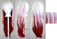 28'' Long Straight Layered Fade Pink Cosplay Wig Guilty Crown Inori Yuzuriha